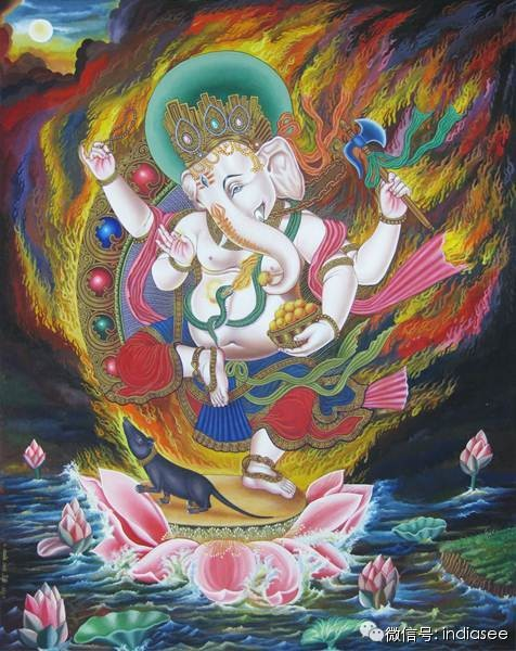 Sanctifying Smoke Offering to the Great God Gaṇapati, by Karma Chakmey, Rāga Asya
