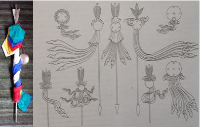 On the Long Life Arrows of Māratika Cave [The Silken Arrows of Longevity], by Māratika Dungdzin Rinpoché, Ngawang Jikdrel ChökyiWangchuk